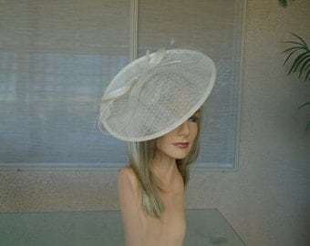 Ivory fascinator cream fascinator Kentucky derby hat