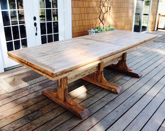 Triple Pedestal Table