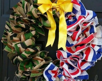 Patriotic military wreath