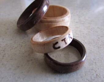 Rustic Wooden Rings