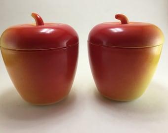 Hazel Atlas Apple Jam Jar 2pc