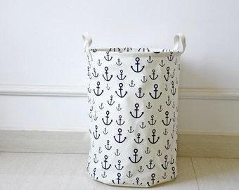 Laundry Hamper, Laundry Basket, Toy Storage, Nursery Fabric Basket, Storage Bin, Toy Basket, Nursery Storage