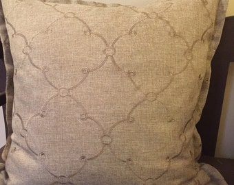 CLEARANCE! Tan taupe Decorative Pillow Cover With Small Flange 20""