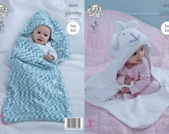Yummy Cocoon & Blanket Knitting Pattern