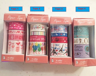 Themed washi tapes - Birthday/Butterfly/Love/Chinese