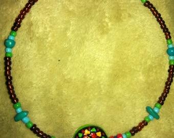 Boho Style Beaded Choker Necklace