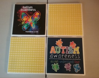 Autism Awareness coaster set