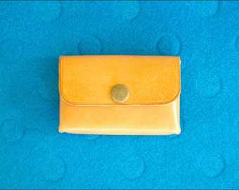 Leather Snap Card Holder