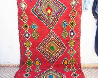 Carpet boujaad cotton red