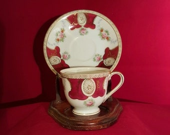 Vintage Gold China Teacup and Saucer - Made in Occupied Japan