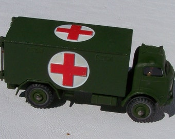 Military Ambulance metal toy by Dinky Toy manfactured in England (No 626)