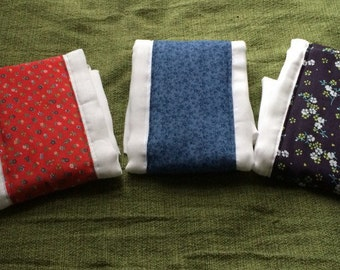 Special order for lauren!!** set of ten custom made burp cloths
