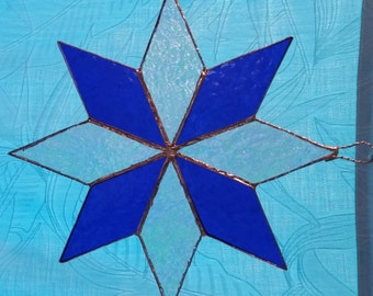Stained glass Star sun-catcher