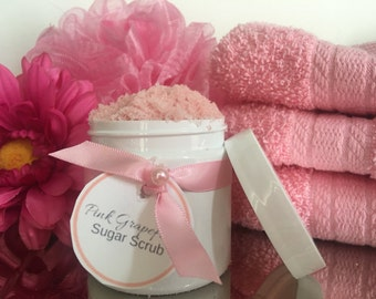 Pink Grapefruit Sugar Scrub! You choose scent! Ultra hydrating exfoliate perfect for dry and sensitive skin!