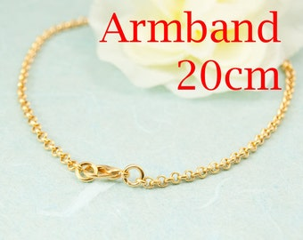 Bracelet gold plated 20cm with extra eye art. 3210