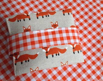 Reusable sandwich bag and placemat-Fox wrap/sandwich lunch sac