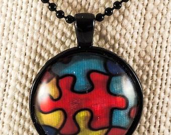 Puzzle Piece Pendant Necklace