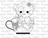 Puppy In The Mug digital Stamp by Sasayaki Glitter
