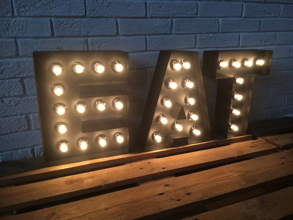light up letters sign letters of metal large eat sign light up kitchen or restaurant 17487 | il 570xN.906359822 pg4c