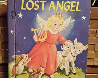 Little Lost Angel/Rand McNally Junior Elf Book Collectible Book/Vintage Nursery Decor/Vintage 1980s/Childs Gift/Upcycle Project/Childrens