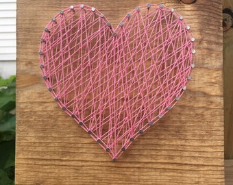 Heart String Wood Art