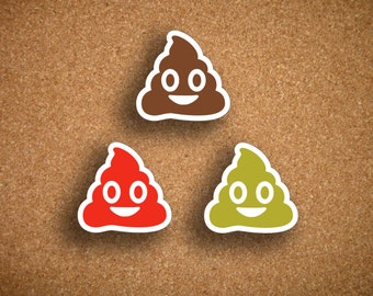 42 Poop Emoji Icon Sticker UNI-DCPE1