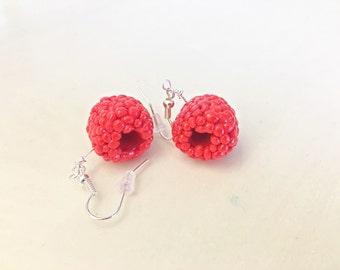Miniature Raspberry Earrings!
