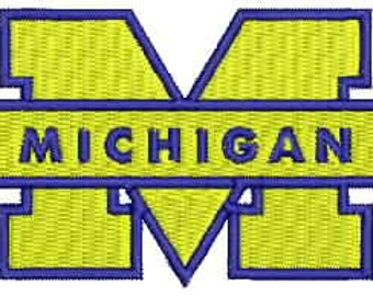University of Michigan Embroidery Design