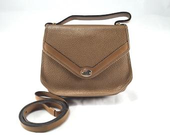 Vintage Christian Dior Brown Leather 2-Way Bag