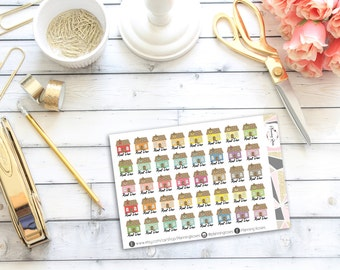 Rent Due Stickers || 40 Planner Stickers