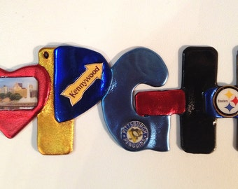 I LOVE PITTSBURGH Ornament, Carnegie Museums, Kennywood Park, Warhol, Heinz Field, PNC Park, Sports Teams Fan Gift, Wall Hanging