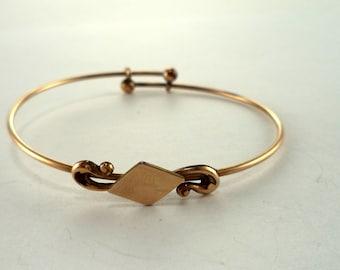 Antique Victorian or Edwardian Gold Filled Bangle Bracelet