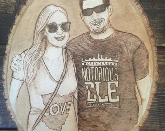 Woodburned Portrait