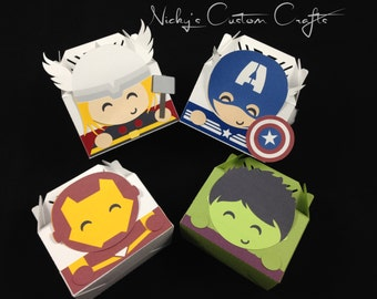 Party Favor Box (Hero) - Set of 8