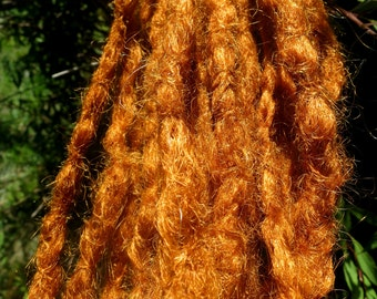 synthetic dreadlock extensions crochet natural style