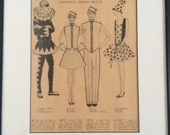 Pair of English Vintage Costume Illustrations