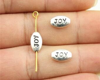 20 Joy Charms, Antique Silver Tone (1J-156)