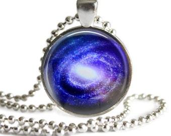 Galaxy Pendant, Space Pendant, Space Jewelry, Glass Art Pendant, Galaxy Necklace, Space Necklace, Astronomy Jewelry, Galaxy Keychain