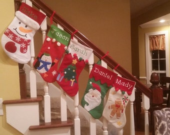 5 Personalize Christmas Stocking for 20 dollars