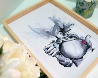 Tea Head Print