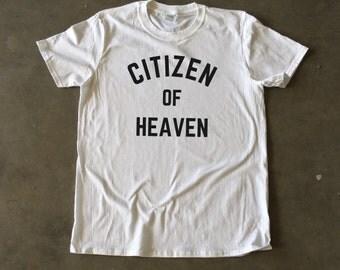 Citizen of Heaven White Men's Christian T-Shirt (3 Colors)