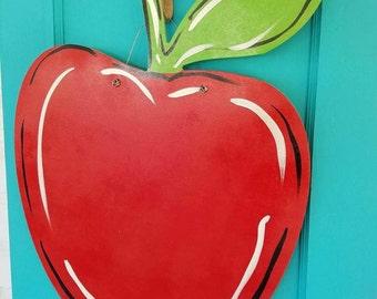 Wooden Apple Doorhanger
