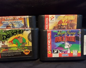 Sega Genesis vintage game Quartet