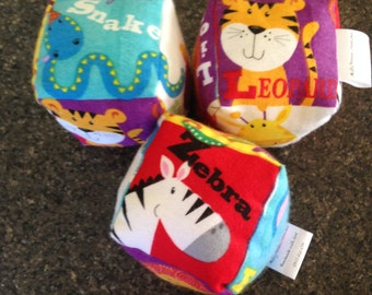 Soft play cubes for baby