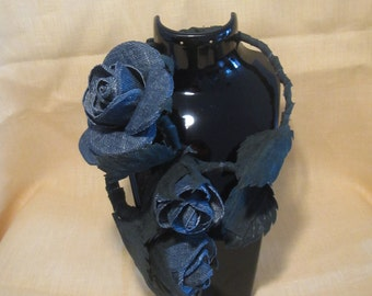 Jeans Necklace Flower, jeans Necklace Rose, Necklace jeans flowers, Roses Necklace jeans, Jeans jewelry Rose, jeans necklace Rose, jeans