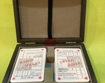 Bridge Playing Card Set With Storage Box