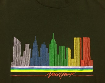 80s New York skyline M shirt
