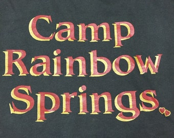 Vintage 90s Camp Rainbow Springs L shirt