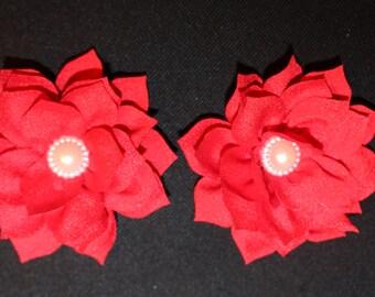 Pearl Lotus Barefoot Sandal Set (Red)
