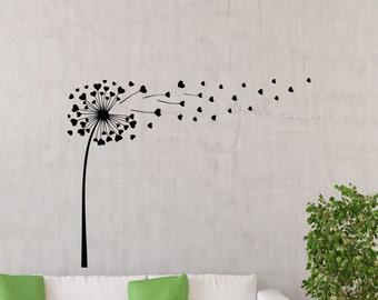 Dandelion wall decal – Etsy